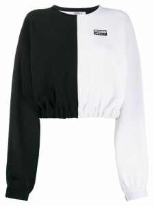 adidas two-tone cropped jumper - Black