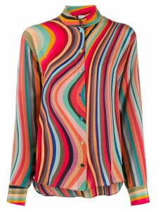 PS Paul Smith stripe print blouse - PINK
