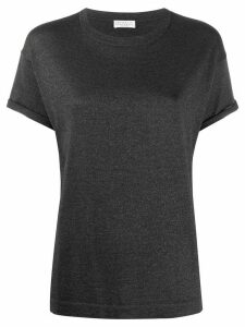 Brunello Cucinelli metallized regular-fit T-shirt - Grey