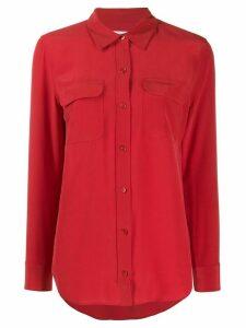 Equipment patch-pocket crepe de Chine shirt - Red
