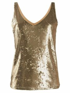 Blanca Vita sequinned tank top - GOLD