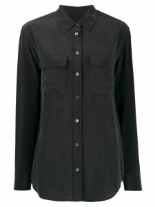 Equipment patch-pocket crepe de Chine shirt - Black