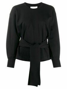 3.1 Phillip Lim tie waist knitted top - Black