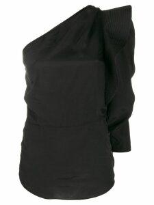 Isabel Marant Étoile deconstructed one-shoulder top - Black