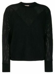 FILIPPA-K Soft Sport mesh cashmere jumper - Black
