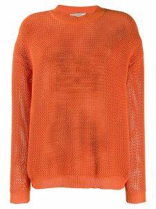 Nina Ricci waffle knit jumper - ORANGE