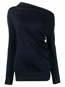 Nina Ricci asymmetric neck jumper - Blue