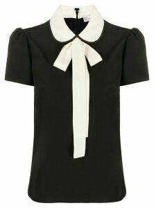 Red Valentino pussycat bow short-sleeved blouse - Black