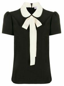 RedValentino pussycat bow short-sleeved blouse - Black