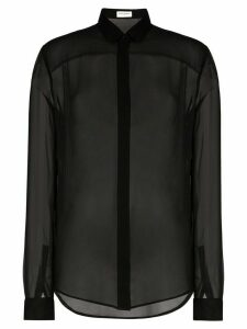 Saint Laurent sheer button front shirt - Black