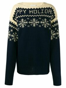Etro snowflake patterned knit jumper - Blue