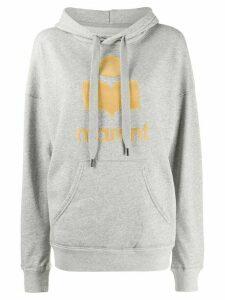 Isabel Marant Étoile logo print hoodie - Grey