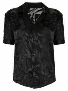 Saint Laurent printed sheer shirt - Black