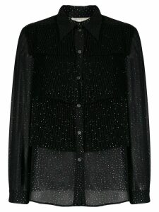 Marco De Vincenzo sheer glitter-embellished shirt - Black