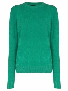 The Elder Statesman fine knit cashmere jumper - Green