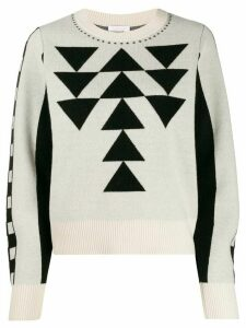 See By Chloé jacquard-knit jumper - White