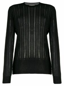 Marco De Vincenzo sheer knitted jumper - Black