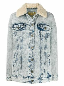 Michael Michael Kors acid wash denim jacket - Blue