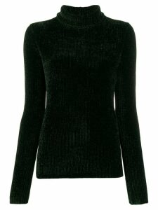 Helmut Lang ribbed velvet rollneck jumper - Green