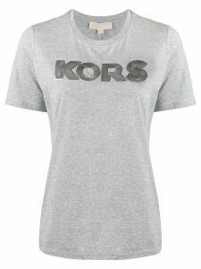 Michael Michael Kors sequin logo embellished T-shirt - Grey