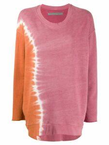 Raquel Allegra tie dye oversized sweatshirt - PINK