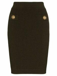 Balmain knitted bodycon skirt - Green