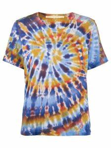 Raquel Allegra tie dye print T-shirt - Blue