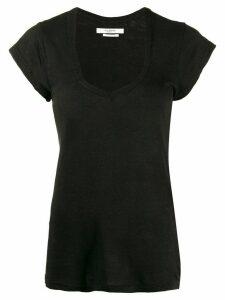 Isabel Marant Étoile Zankou linen T-shirt - Black