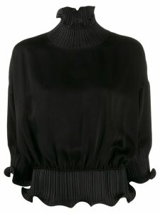 Givenchy frilled roll-neck blouse - Black