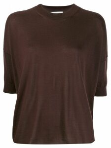Jil Sander dropped-shoulder knitted top - Brown