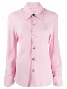 Marni stitch detail collared shirt - PINK