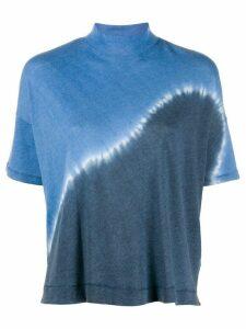 Raquel Allegra tie dye boxy T-shirt - Blue