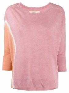 Raquel Allegra tie dye print sweatshirt - PINK