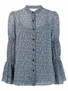 Michael Michael Kors micro-floral print shirt - Blue