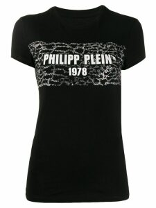 Philipp Plein logo print slim-fit T-shirt - Black
