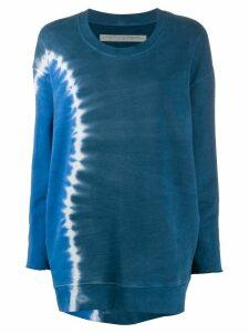 Raquel Allegra tie dye oversized sweatshirt - Blue
