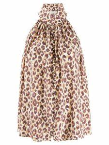 Zimmermann leopard-print halterneck top - NEUTRALS
