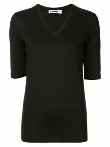 Jil Sander fitted V-neck T-shirt - Black