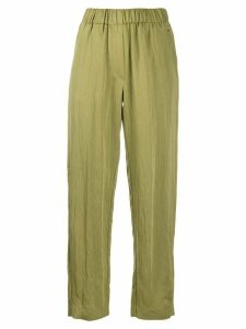 Forte Forte elasticated waist loose fit trousers - Green
