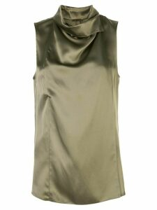 Adam Lippes draped neck blouse - Green