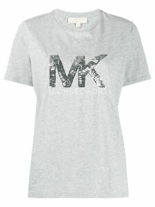 Michael Michael Kors metallic sequin-logo T-shirt - Grey