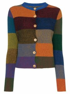 The Elder Statesman Yatzy colour-block cardigan - Blue