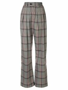 Strateas Carlucci pleated high-waisted trousers - Grey