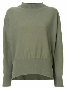 Pleats Please Issey Miyake Kanko loose-fit jumper - Green