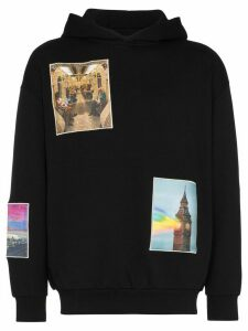 Browns X Sara Shakeel London patch-embroidered cotton hoodie - Black