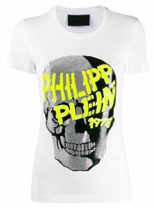 Philipp Plein Skull embellished short sleeve T-shirt - White