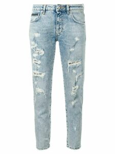 Philipp Plein ripped slim fit jeans - Blue