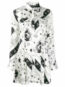 Philipp Plein Stars and Skull print shirt - White