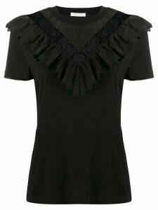 Zimmermann Veneto Perennial ruffled T-shirt - Black