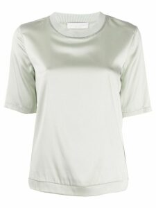 Fabiana Filippi bead-embellished satin T-shirt - Green